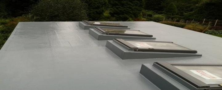 New Build Flat Roof With Velux Window Skylights
